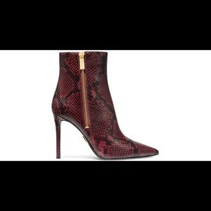 Michael Kors Brandy Red Koke Leather Booties Boots